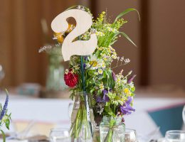Wedding Breakfast table decorations